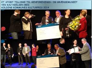PRISOVERRÆKKELSE Kolding Kommunes Kulturpris 2014