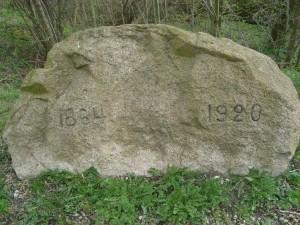 Stenen, som markerer 1864-1920 grænsen ved Kærmøll