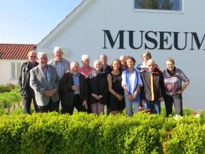 Museets gavl udgjorde en perfekt baggrund for jubilæumsbillledet