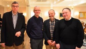Fra venstre mod højre: Lars Christoffersen, Mads og Lars Hvelplund og Lars Gormsen